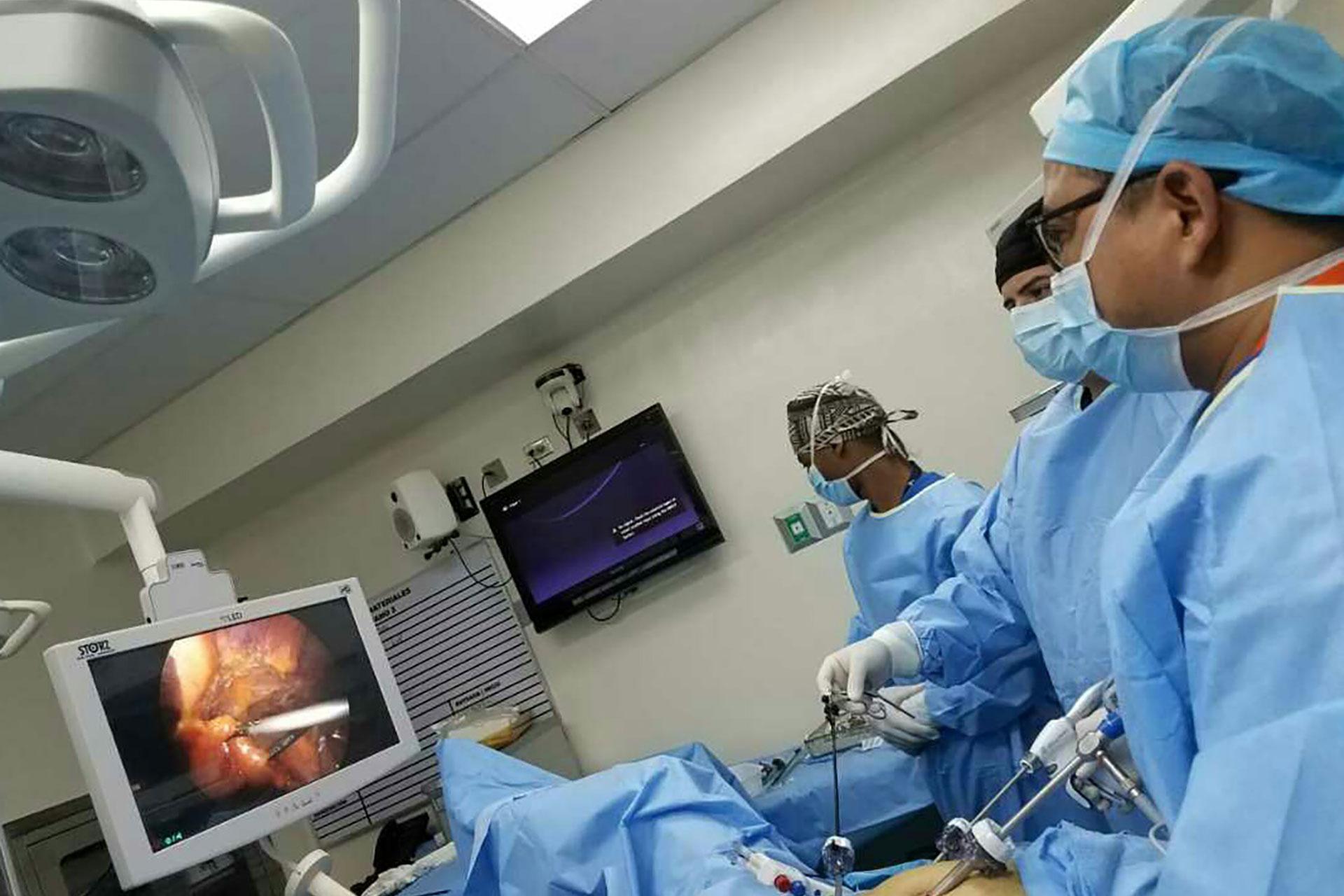 Cirugía laparoscópica Urológica